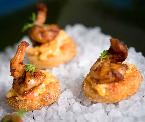 Delicious appetizers and finger food.