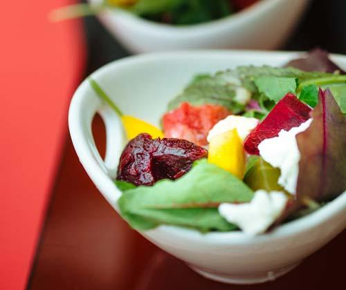 Seasonal Salad with Fruit.