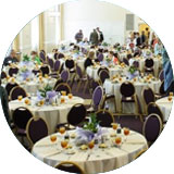 Have Blue Ridge Catering host your next event at Charter Hall.