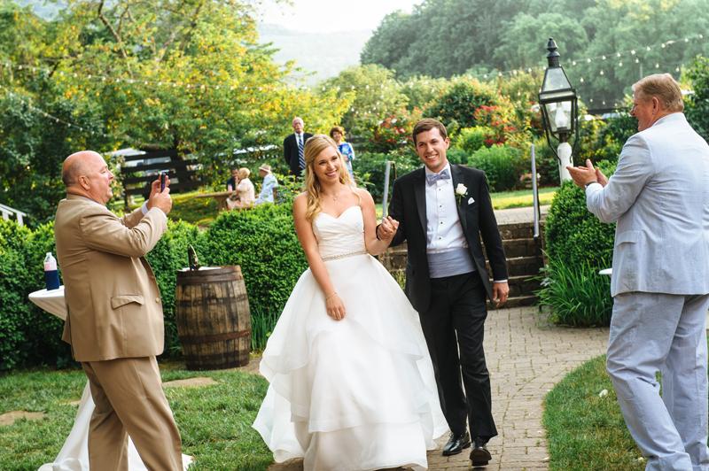 Bride and Groom Southern Garden Wedding at Sundara Wedding Venue in Virginia